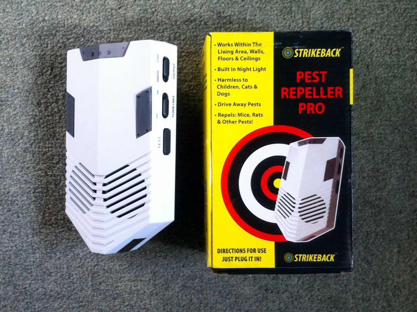 Strikeback Ultrasonic Mouse Amp Rat Repeller Pro Whole House